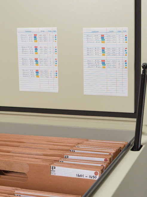 How to store large documents like maps and plans. The Planfile cabinet provides maximum protection. In addition, the index cards and large folder labels provide the perfect organization of your blueprint files.