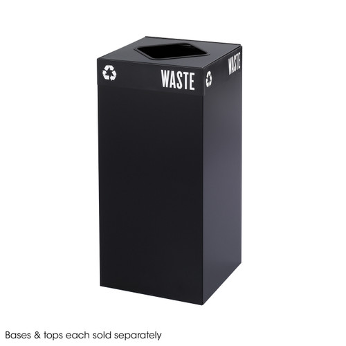 Public Square Black Base, 31-Gallon