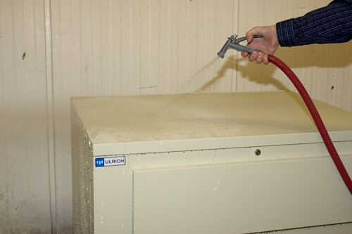 When there is a fire the damage to your documents is not only flames and smoke. Water damage from sprinklers and fire hoses can cause irreparable damage. The unique lap joint construction of this Map Storage cabinet provides water protection as well as protection from dust.
