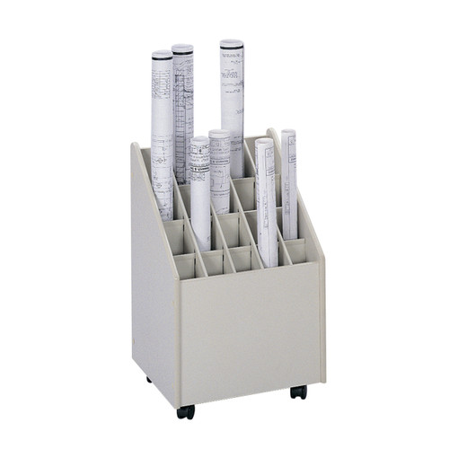 Mobile Roll File, 20 Compartment