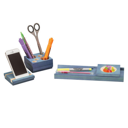 Splash Multi-Colored Wood Desk Set