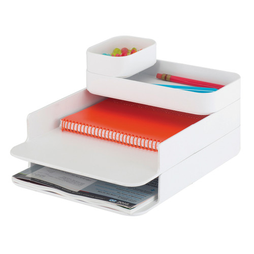Stacking Plastic Desktop Sorter Set