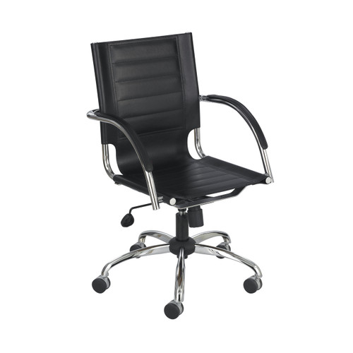 Flaunt Managers Chair Black Leather