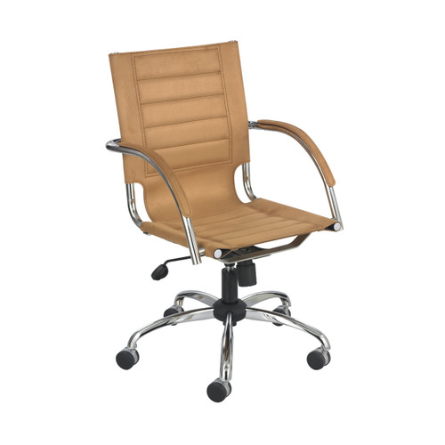 Flaunt Managers Chair Camel Micro Fiber