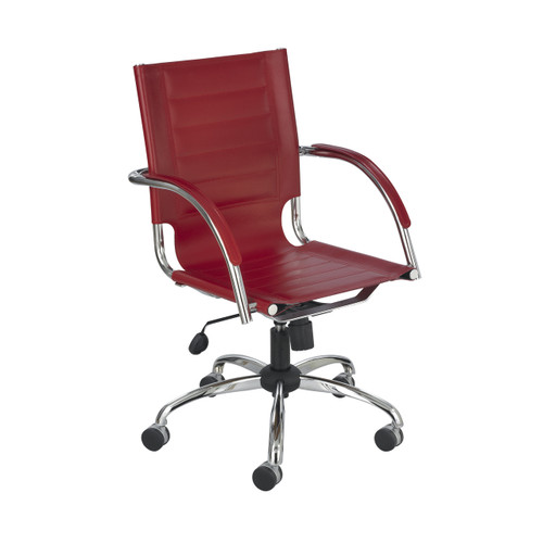 Flaunt Managers Chair Red Leather