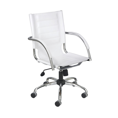 Flaunt Managers Chair White Leather