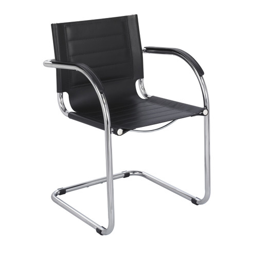 Flaunt Guest Chair Black Leather