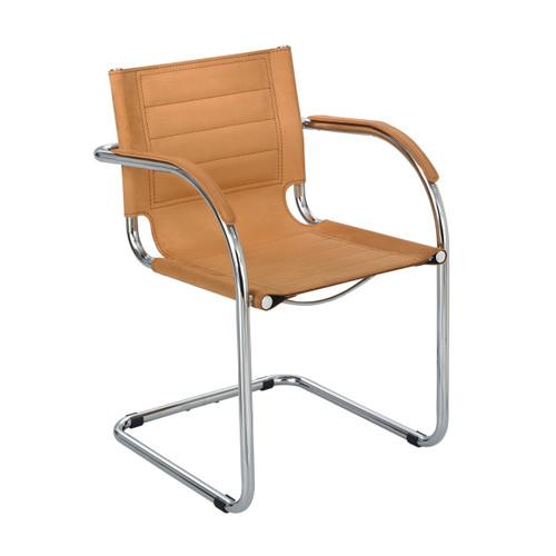 Flaunt Guest Chair Camel Micro Fiber