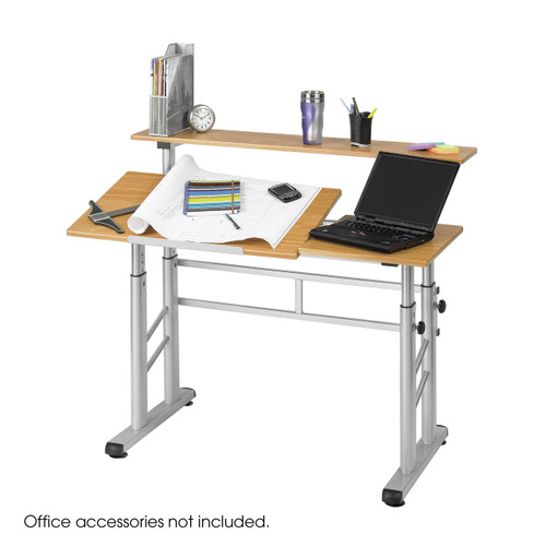 Height-Adjustable Split Level Drafting Table