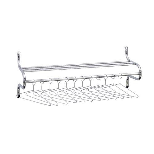 "48"" W Shelf Rack with Hangers"