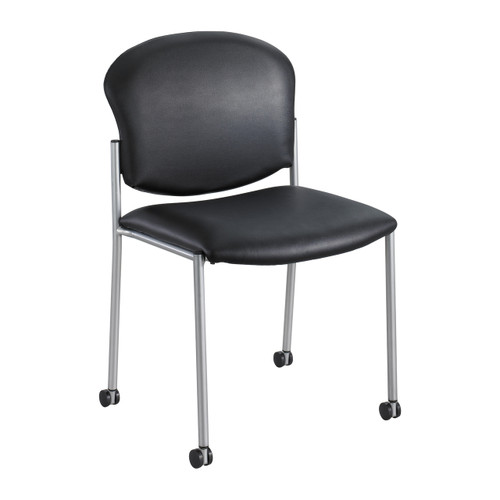 Diaz Guest Chair - Black Vinyl