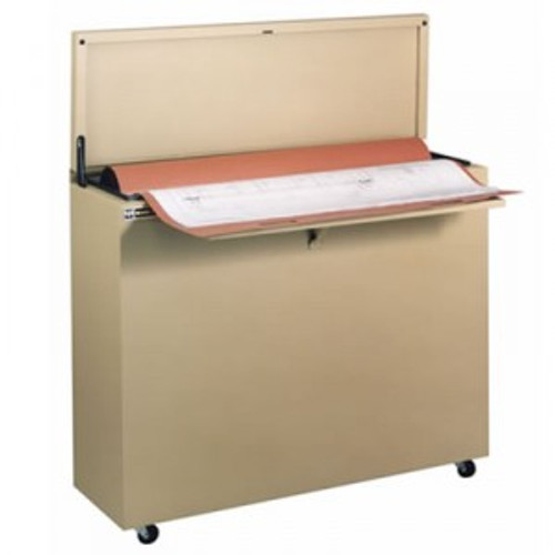 This plan storage cabinet is compact. Saving 70% of the space taken by flat file cabinets. Replacing more than 2 flat file cabinets. While also providing fire resistance and water resistance.