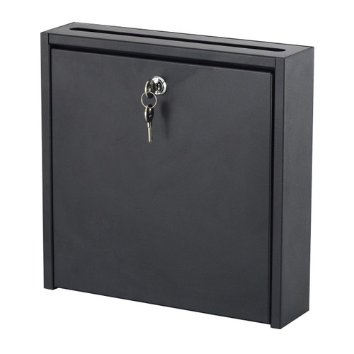 "12 x 12"" Wall-Mounted Interoffice Mailbox with Lock"