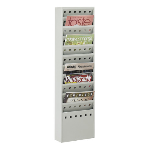 11-Pocket Steel Magazine Rack