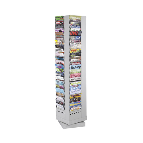 92-Pocket Steel Rotary Magazine Rack