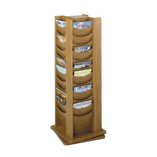 48-Pocket Solid Wood Rotating Display