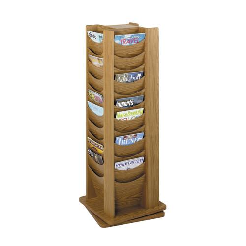 48-Pocket Solid Wood Rotating Display
