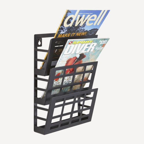 Grid Magazine Rack 3 Pocket