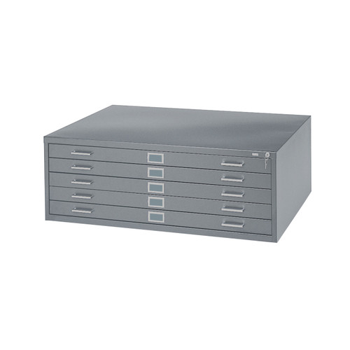 """Safco 5-Drawer Steel Flat File for 24"""" x 36"""" Documents"""