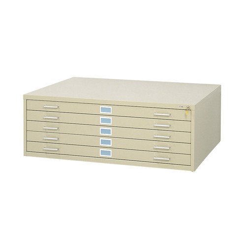 """Safco 5-Drawer Steel Flat File for 30"""" x 42"""" Documents"""