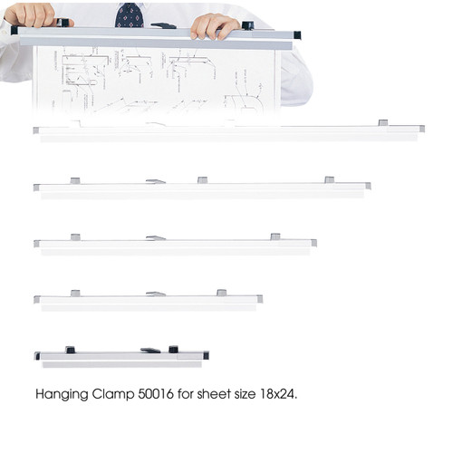 "18"" Hanging Clamps for 18"" x 24"" Sheets"