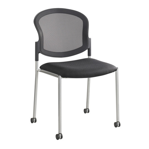 Diaz Guest Mesh Back Chair - Black
