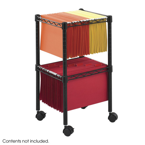 Two-Tier Compact File Cart