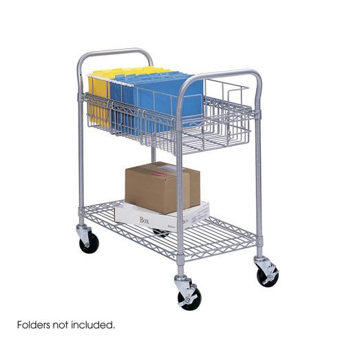 "Wire Mail Cart, 24""W"