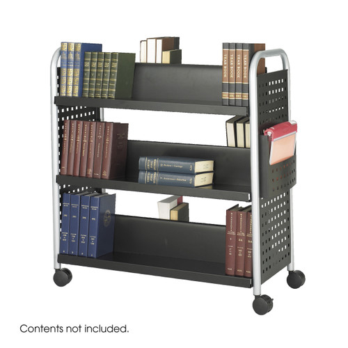 Scoot? Double-Sided Book Cart - 6 Shelves