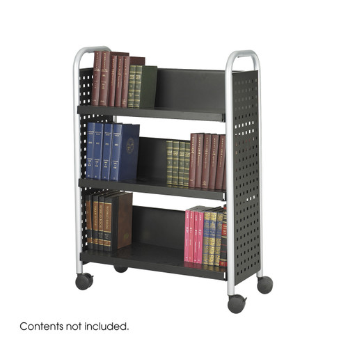 Scoot? Single-Sided Book Cart - 3 Shelves