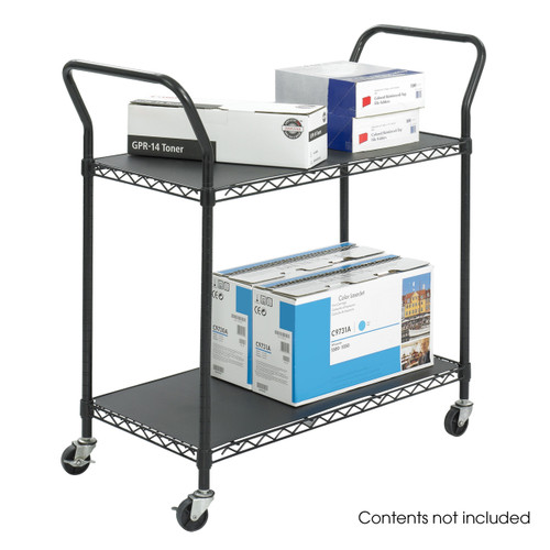 Wire Utility Cart - 2 Shelves