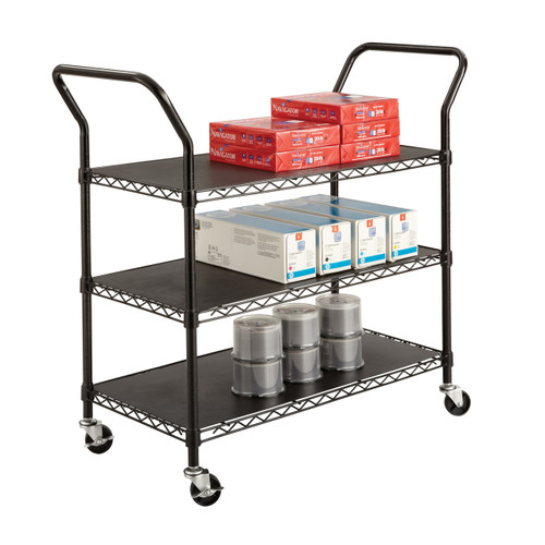 Wire Utility Cart - 3 Shelves