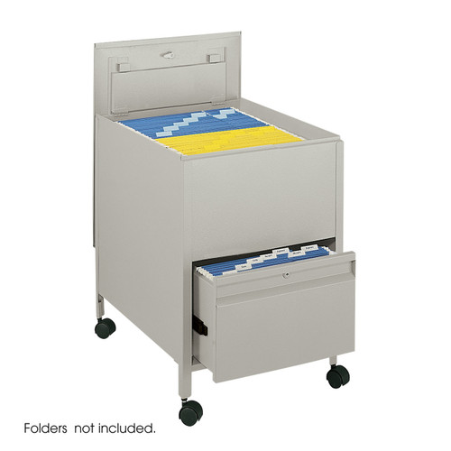 Locking Mobile Tub File with Drawer, Legal Size