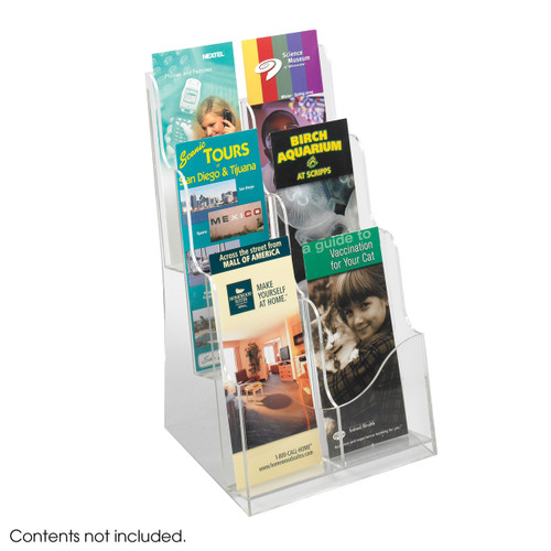 Acrylic 3 Pocket Magazine Display