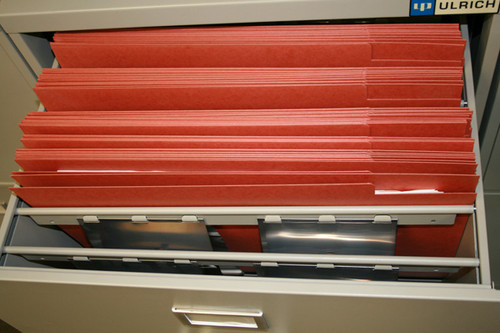 """336 """"Tuff One"""" reinforced folders are delivered with this cabinet"""