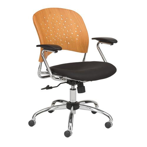 Reve Task Chair Round Plastic Wood Back