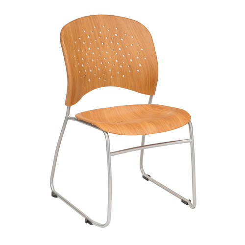 Reve? Guest Chair Round Plastic Wood Back (Qty. 2)