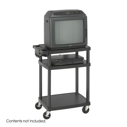 Adjustable Plastic AV/TV Cart