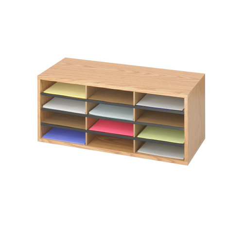 Wood/Corrugated Literature Organizer, 12