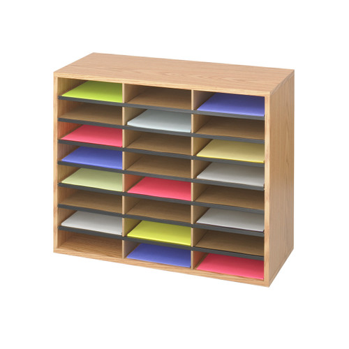 Wood/Corrugated Literature Organizer, 24