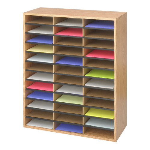Wood/Corrugated Literature Organizer, 36