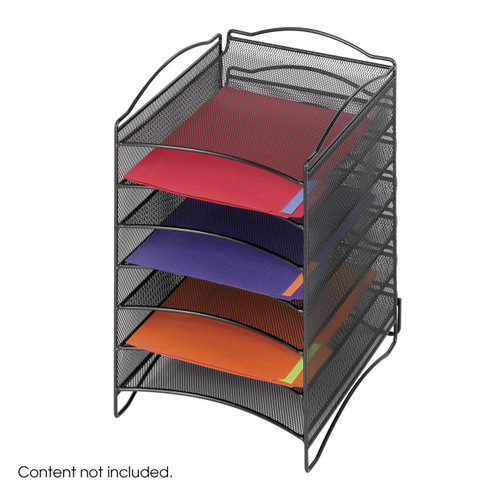 Onyx 6 Compartment Mesh Literature Organizer