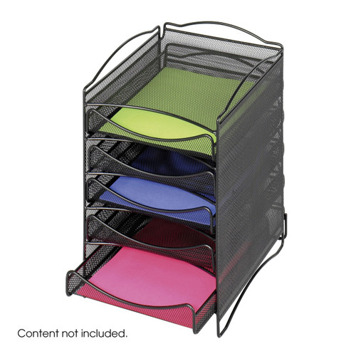 Onyx 5 Drawer Mesh Literature Organizer