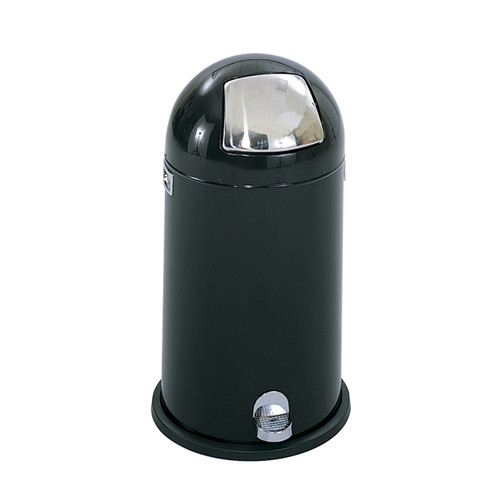 Dome Step-On Receptacle, 12-Gallon