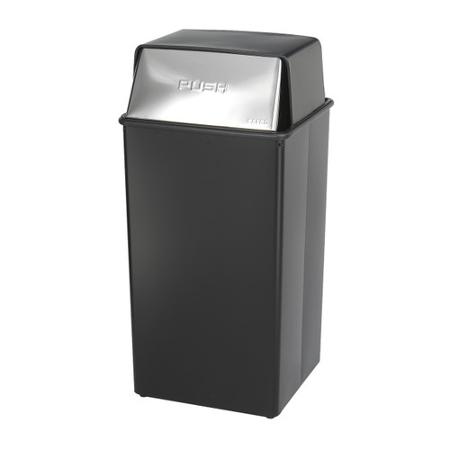 Reflections By Safco? Push Top Receptacle, 36-Gallon
