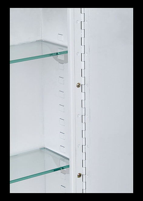 Ketcham single door medicine cabinets Deluxe Stainless Steel Series