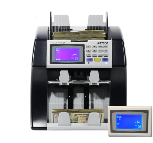AccuBanker Dual Pocket Mixed Bill Value Counter AB7500