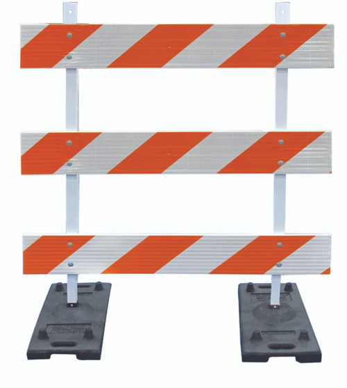 POWER POST™ TYPE III BARRICADE KITS - 4' Boards with HIP Sheeting BOTH SIDES OF BOARDS