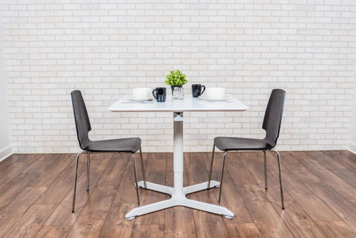 """32"""" Pneumatic Height Adjustable Square Café Table"""