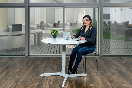 """36"""" Pneumatic Height Adjustable Round Café Table"""